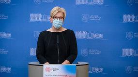 I.Šimonytės ir energetikos ministro D.Kreivio komentarai
