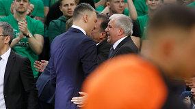 """Željko Obradovičius po rungtynių gyrė Šarą: """"Jis puikiai valdo komandą"""""""