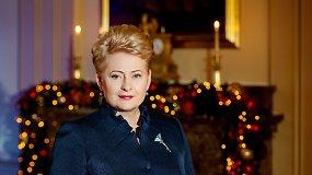 Prezidentės Dalios Grybauskaitės sveikinimas Kūčių vakarą