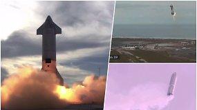 """Po sėkmingo skrydžio ir nusileidimo staiga sprogo """"SpaceX"""" raketa"""