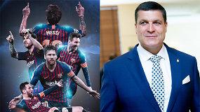 """""""Vieni vartai"""": dieviškasis Lionelis Messi, """"bagažinės"""" federacija ir raudona kortelė prezidentui"""