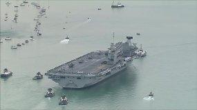 "Lėktuvnešis ""HMS Queen Elizabeth"" – naujasis Jungtinės Karalystės flagmanas"