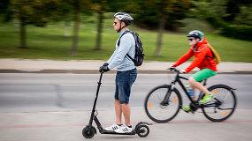 """Diskusija """"Dalijamės keliu"""": pėsčiųjų ir elektrinių paspirtukų vairuotojų saugumas"""