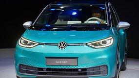 """""""Volkswagen"""" pradeda naują gyvavimo erą: naujas logotipas ir elektrinis ID.3, nuvažiuojantis 420 km"""