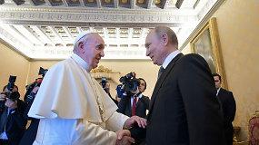 Vatikane popiežius Pranciškus susitiko su Rusijos prezidentu Vladimiru Putinu