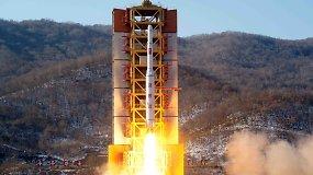 Šiaurės Korėja įvykdė grasinimus ir paleido didelio nuotolio raketą