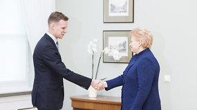 Gabrielius Landsbergis po susitikimo su prezidente: pokalbis buvo racionalus