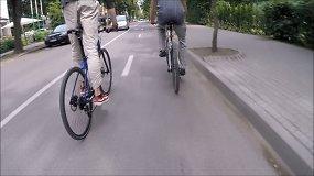 Naujojo Palangos dviračių tako bandymai