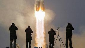 Astronautai Timas Kopra, Timas Peake'as ir kosmonautas Jurijus Malenčenko pakilo skrydžiui į TKS