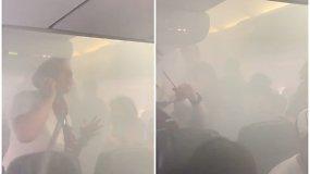 Lėktuvo keleiviai išgyveno tikrą siaubą: saloną ir pilotų kabiną užtvindė tiršti dūmai