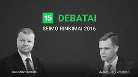 15min debatai: Gabrielius Landsbergis prieš Saulių Skvernelį