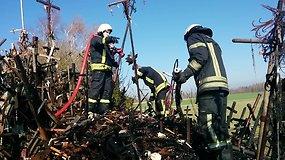 Ugniagesiai užgesino gaisrą Kryžių kalne