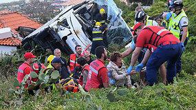 Tragedija Madeiros saloje: turistinio autobuso avarija pražudė beveik 30 žmonių
