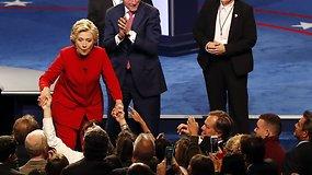 """H.Clinton po debatų su D.Trumpu: """"Padarysiu viską, ką galiu"""""""