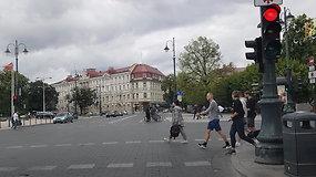 Kilpinis eismas Vilniaus senamiestyje: Lauryno Stuokos-Gucevičiaus gatvė