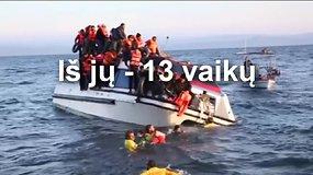 Egėjo jūroje nuskendus dviem migrantų laivams žuvo 22 žmonės