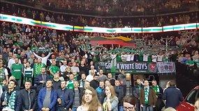 Lietuvos himnas Kauno ŽALGIRIO arenoje prieš rungtynes su Barcelona