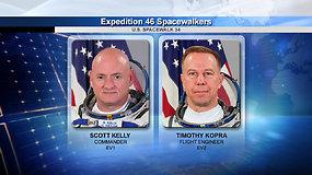 Pasivaikščiojimas atvirame kosmose su Scottu Kelly ir Timu Kopra
