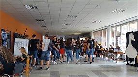 Naujokų ir kuratorių linksmybės Vilniaus universitete