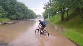 Potvynis Vilniuje, Narbuto gatvėje