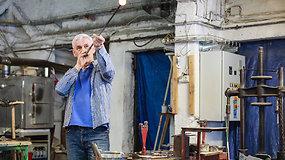 Lenkijos mieste Škliarska Poremba įsikūrę stiklapūčiai lankytojams siūlo pamatyti jų darbą iš arti