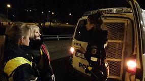 Policijos pareigūnų ir moters konfliktas Vilniuje