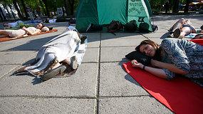 Kauniečiai Europos dieną paminėjo gulėdami Laisvės alėjoje