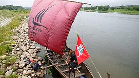 Vikingų laivas išplaukė iš Kauno