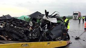 "Kelyje ""Via Baltica"" avarijoje žuvo žmogus"