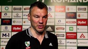 """Š.Jasikevičius apie LKL finalus: """"Visos komandos namuose žaidžia geriau, išskyrus Žalgirį"""""""