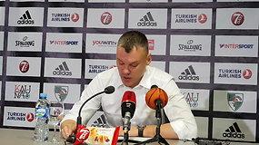 Pelnyta pergalė namuose: Šarūno Jasikevičiaus konferencija