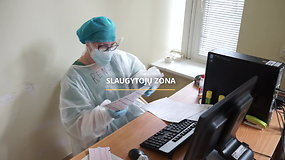 #PriešakinėseLinijose reportažas iš Šiaulių ligoninės: patalpos, kur gydomi koronavirusu užsikrėtę pacientai