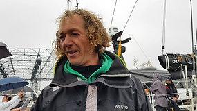 """""""Ambersail 2"""" kapitonas Linas Ivanauskas: lenktynės visos sunkios"""