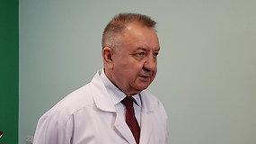KUL vyr.gydytojas V.Janušonis: sergančiojo būklė normali