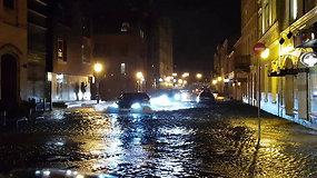 Potvynis Klaipėdos senamiestyje