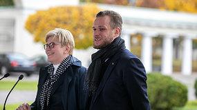 Išrinktų partijų lyderiai lankosi pas prezidentą: I.Šimonytės ir G.Landsbergio komentarai