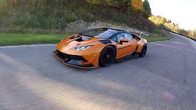 "15min žurnalistai išbandė ""Lamborghini Huracan Super Trofeo"""