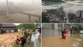 Kinijoje potvyniai pasiglemžė daugiau kaip du šimtus gyvybių