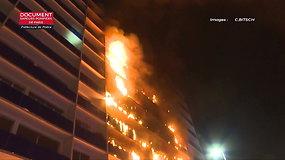 Vienoje Paryžiaus ligoninių naktį siautė gaisras