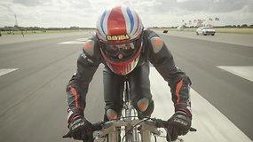 278.9 km/h dviračiu – naujas Guinnesso rekordas