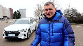 """Įspūdžiai išbandžius elektrinį """"Audi e-Tron"""" su virtualiais veidrodėliais"""