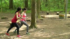 Pavasario iššūkis: sportas lauke su drauge (-u)