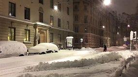 Stokholmą užgriuvo rekordinis lapkričiui sniego kiekis