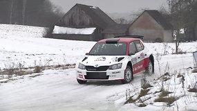 """Utenos apylinkėse vyko """"Halls Winter Rally"""" lenktynės"""