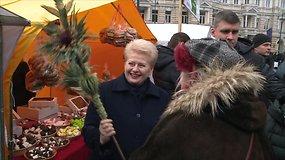 Dalia Grybauskaitė apsilankė tradicinėje Vilniaus Kaziuko mugėje