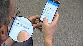 Sužinokite, kaip išmaniuoju telefonu išsiųsti SOS žinutę