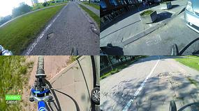 Nuvažiuoti dviračiu iš Visorių į centrą – nelengva užduotis