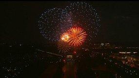 JAV nepriklausomybės dienos fejerverkai Vašingtone