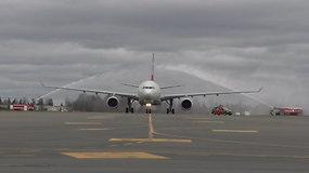 """""""Airbus A330F"""" – didžiausias krovininis orlaivis, kada nors nusileidęs Vilniaus oro uoste"""