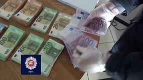 FNTT kratos: milijonai galimai nuslėptų mokesčių, rasta 100 tūkst. eurų grynųjų